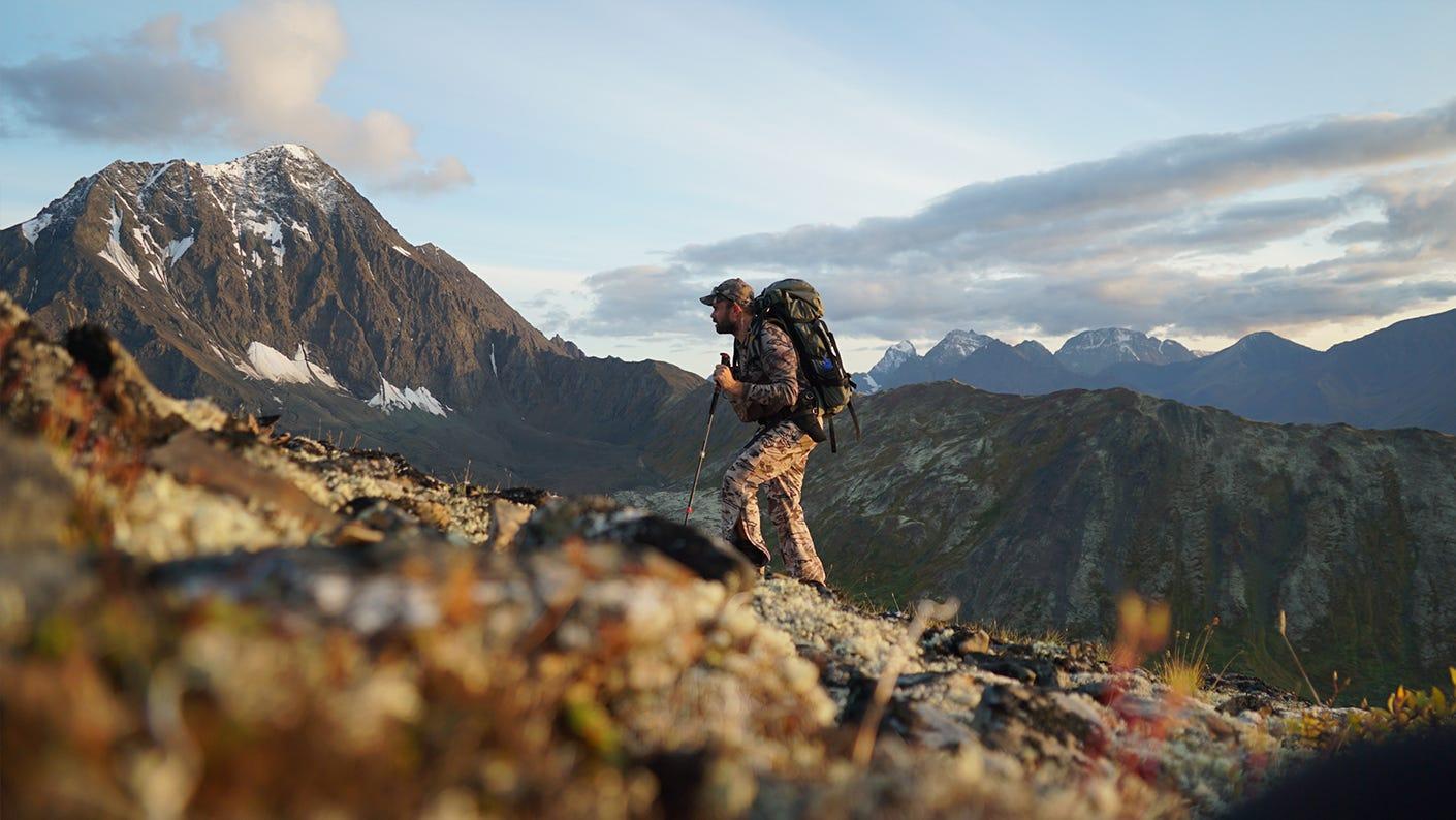 Remi Warren elk hunting in the mountains.