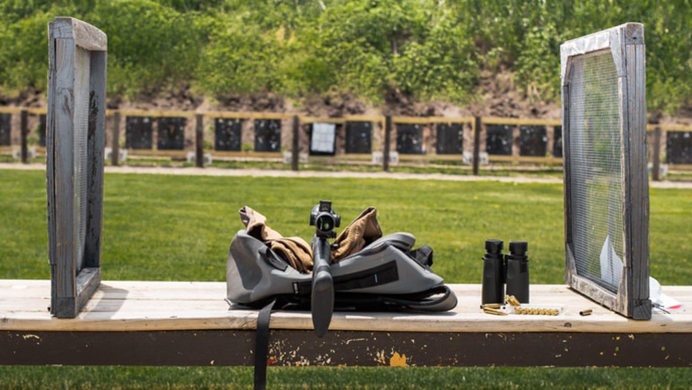 Vortex riflescope on a gun at the outdoor shooting range