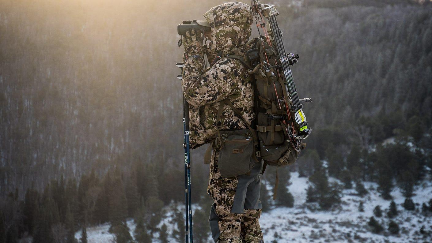 Hunter in a western hunting landscape.