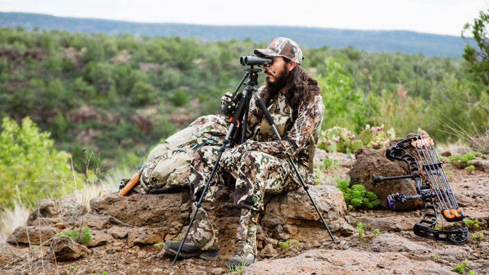 Give yourself the best chance by finding a high vantage point, whether that's a mountain or a treestand.
