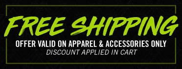 Free Shipping - Valid only on Apparel & Accessories - Discount Applied in Cart